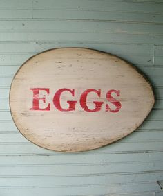 Take a look at this 'Eggs' Wall Art by Slippin' Southern on #zulily today!  sale for 40.00!!