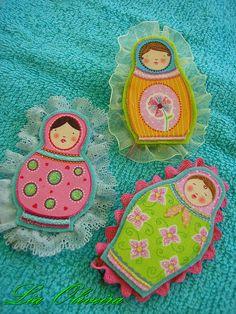 Matryoshka Nesting Doll Brooches