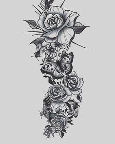 Вільний ескіз рукава, для запису пиши в дірект #slabkevych_sketch #slabkevychtattoo #karmatattoo #tattoolviv Rose Tattoos, Flower Tattoos, Small Tattoos, Forearm Tattoos, Sleeve Tattoos, Rosary Drawing, Little Mermaid Tattoos, Locket Tattoos, Tattoo On