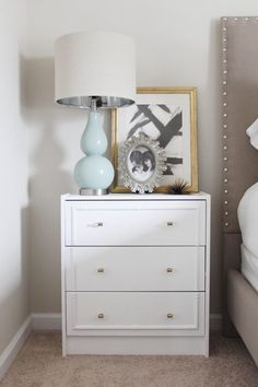 Create a unique, custom Hollywood Regency inspired piece of furniture from an IKEA RAST nightstand.