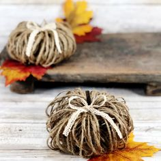 How to Make Twine Pumpkins - Crafty Morning Christmas Crafts To Make, Fall Crafts, Halloween Crafts, Christmas Fun, Crafts For Kids, Holiday Crafts, Halloween Decorations, Salt Dough Ornaments, Angel Ornaments