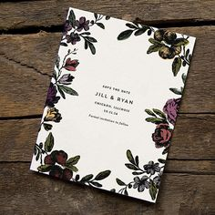 Save the Date, Formal, Floral, Vintage Flower - FLORA