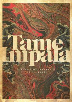 Un proyecto de lacabezaenlasnubes Tame Impala Gig poster Impala Gig poster 0 Musikfestival Poster, Poster Retro, Kunst Poster, Poster Wall, Poster Prints, Vintage Music Posters, Hipster Poster, Poster Quotes, Poster Layout
