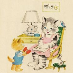 Three Little Kittens illustrated by Marjorie Cooper, 1966.