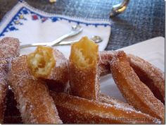 Spanish Churros recipe easy and fast - dessert - # Desserts Espagnols, Desserts With Biscuits, Irish Recipes, Greek Recipes, Croissant, Spanish Churros Recipe, Snack Recipes, Cooking Recipes, Snacks