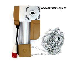 motor de ataque al eje de puerta seccionada industrial.  www.automateasy.es