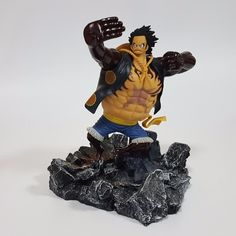 (34.75$)  Watch now - http://ai8xd.worlditems.win/all/product.php?id=32686620425 - One Piece Action Figures Luffy Gear 4 Model Toys With Rock Base One Piece Anime Monkey D Luffy Japanese Anime Figure