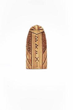 Holz Figur  ein Gott Bragi. Handgeschnitzte Holzfigur Bragi.