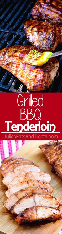 Grilled BBQ Tenderloin ~ turkey tenderloin marinated in BBQ sauce and grilled to perfection for a light, healthy, low-carb meal! Turkey Tenderloin Recipes, Turkey Recipes, Pork Recipes, Beef Tenderloin, Family Recipes, Barbecue Recipes, Grilling Recipes, Cooking Recipes, Grilling Ideas