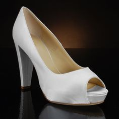 Georgia by Kate Spade White Bridal Shoes, Wedding Shoes, Georgia Wedding, Pumps, Heels, Got Married, Peep Toe, Kate Spade, Ivory