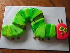 "Caterpillar Cake for Eric Carle's ""The Very Hungry Caterpillar :)"