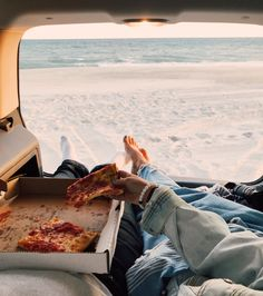 Beach Drives Pizza on the beach Beach Date Denim Pizza Date Summer Vibes