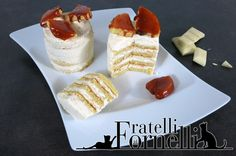Mini Dobos with white #chocolate, variation of the traditional #Hungarian #cake. - Fratelli ai Fornelli