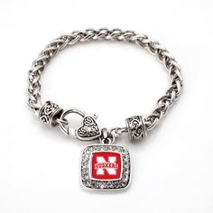 The Nebraska Cornhuskers Classic Braided Bracelet - a sterling silver bracelet. Would make a great Mom's Day gift (hint-hint)!