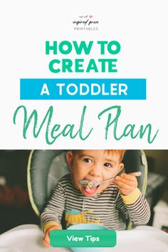 Toddlers are pretty active and seem to burn off the calories they consume with little effort. Here are some tips on how to create a toddler meal plan to help with picky eaters and encourage healthy eating habits.  #toddlermealideas #toddlermealplan #toddlereatingschedule   #toddlermeals2yearold #pickyeatertoddler #inspiredprose   #inspiredproseprintables Picky Toddler Meals, Kids Meals, Toddler Dinners, Toddler Lunches, Meal Plan For Toddlers, Chore Chart Kids, Chore Charts, Toddler Routine, Healthy Eating Habits