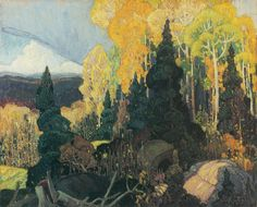 Exhibition: 'Painting Canada: Tom Thomson and the Group of Seven' at the Dulwich Picture Gallery, London – Art Blart Emily Carr, Canadian Painters, Canadian Artists, Landscape Art, Landscape Paintings, Group Of Seven Paintings, Group Of Seven Artists, Franklin Carmichael, Dulwich Picture Gallery
