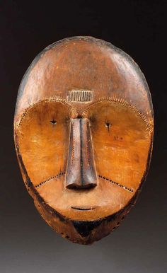Africa | Mask from the Fang people of Gabon | Wood. H: 52cm