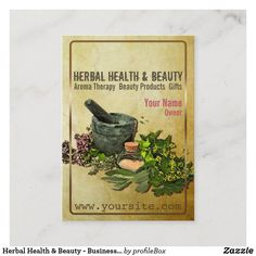 Herbal Health & Beauty - Business Card