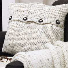 I am in love with this knitted cushion cover that Pottery Barn makes this session. The only problem is it's forty dollars and I refuse to buy it. So I am attempting to find similar patterns and knit my own! In your face Pottery Barn! http://www.allaboutyou.com/craft/pattern-finder/knitting-patterns/knits-for-the-home/knit-a-cushion-or-throw-45187