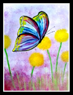 My Butterfly acrylic painting