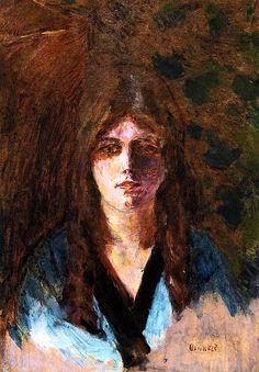 Woman's Head / Pierre Bonnard - circa 1892