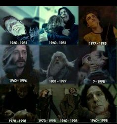 Harry Potter characters- year of birth to year of death Harry Potter Tumblr, Harry Potter Ron Weasley, Harry Potter Feels, Harry Potter Puns, Harry Potter Pictures, Harry Potter Universal, Harry Potter Characters, Harry Potter World, Jk Rowling Libros