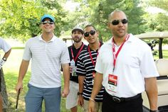 The boys at the Matt  Holliday Golf Tourny for the Pujols Foundation