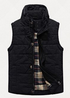 Men s Winter Trench Warm Vest Washed Cotton Soft High Neck Outdoor  Waistcoat  258bdf99c4