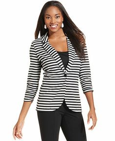 Striped Blazers Womens | Fashion Ql