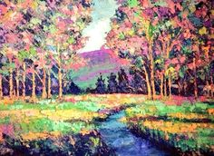 """""""Upcountry Charisma""""18x24 original palette knife oil painting by Peggy Ann Thompson"""
