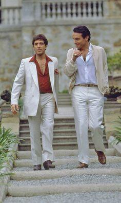 Al Pacino and Paul Shenar, Scarface (1983)