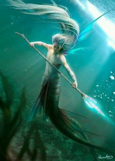 Merfolk What are merpeople? In legend and folklore, merfolk are creatures from the sea. There are several kinds of merfolk, depending. Magical Creatures, Fantasy Creatures, Sea Creatures, Beautiful Creatures, Fantasy Mermaids, Mermaids And Mermen, Fantasy World, Fantasy Art, Foto Portrait
