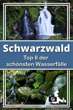 Most beautiful Black Forest waterfalls Explore the world - I present the 8 most beautiful waterfalls in the Black Forest. These include the Triberg waterfalls - Yellowstone National Park, National Parks, Hotel Am Strand, Forest Waterfall, Camping Checklist, Beautiful Waterfalls, Beautiful Places In The World, Black Forest, Weekend Trips