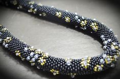Black and Gold Beaded Necklace Tubular Choker Necklace Beaded Rope Jewelry Hand Woven Artisan Jewelry Black Beaded Necklace Gifts for Moms Black and Gold Beaded Necklace Beaded Rope Crystal Necklace Rope Jewelry, Seed Bead Jewelry, Etsy Jewelry, Jewelry Gifts, Beaded Jewelry, Beaded Necklace, Hand Jewelry, Black Jewelry, Gemstone Jewelry