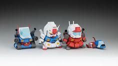 5cm Gundam V2 - 图纸发布 - WXY | PAPER - 纸模型制作日志