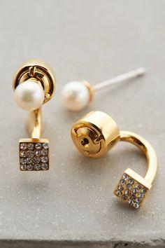 Pearled Cube Earrings <3