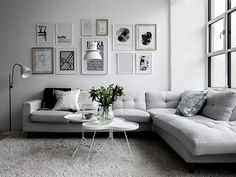 Living room grey and white