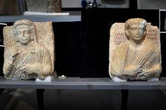 Des bustes endommagés par Daech ont été restaurés par des spécialistes italiens et sont aujourd'hui remis aux autorités syriennes.