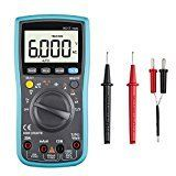 #6: Digital Multimeter TRMS 6000 Counts Auto Ranging Multi volt meter Tester with test leads for Capacitance Resistance Hz Duty Cycle Temperature AC/DC Voltage Current Transistor Diode Buzzer Test