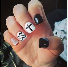 Cross and chevron nails