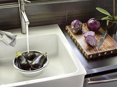 - Gorgeous Kitchen Backsplash Options and Ideas on HGTV - It has got to be the purple, but this just works for me!