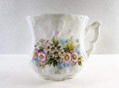 Pink Blue Wild Flower Coffee Cup Vintage by EtagereAntiques Wild Flowers, Pink Blue, Coffee Cups, Porcelain, Unique Jewelry, Handmade Gifts, Etsy, Vintage, Kid Craft Gifts