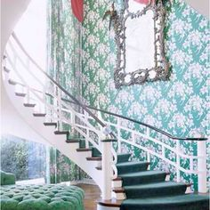 This is a fairytale house with the spiral staircase