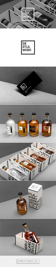 De Stijl Wiski Dutch whiskey packaging on Behance curated by Packaging Diva PD. Have a whiskey on me : )