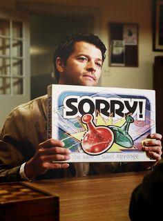 Castiel's way of apologizing • #SPN #Castiel