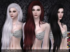 Aquaria Female Hair by Stealthic at TSR via Sims 4 Updates