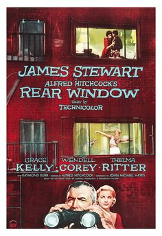 Rear Window  Alfred Hitchcock Movie Poster Print   by jangoArts, $19.50