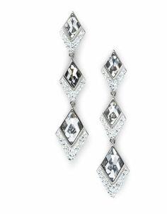 c6be7649b NIB Atelier Swarovski Core Collection Mira Pierced Earrings LAZO 5229454