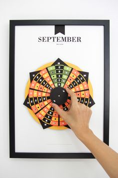 September 2012 calendar from the graphic design project Pattern Matters by Lim Siang Ching.