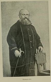 "Éliphas Lévi, born Alphonse Louis Constant-- (1810-1875), was a French occult author and ceremonial magician. ""Éliphas Lévi,"" the name under which he published his books, was his attempt to translate or transliterate his given names ""Alphonse Louis"" into the Hebrew language."